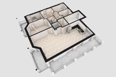 3D Grundriss Wardenburg