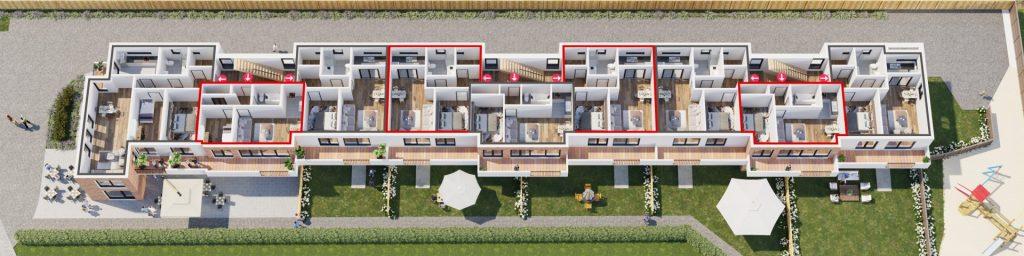3D-Grundriss-Mehrfamilienhaus