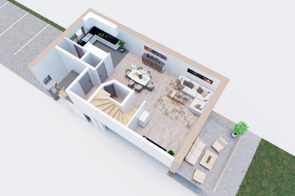 3D Visualisierung Jena - 3D Grundriss EG
