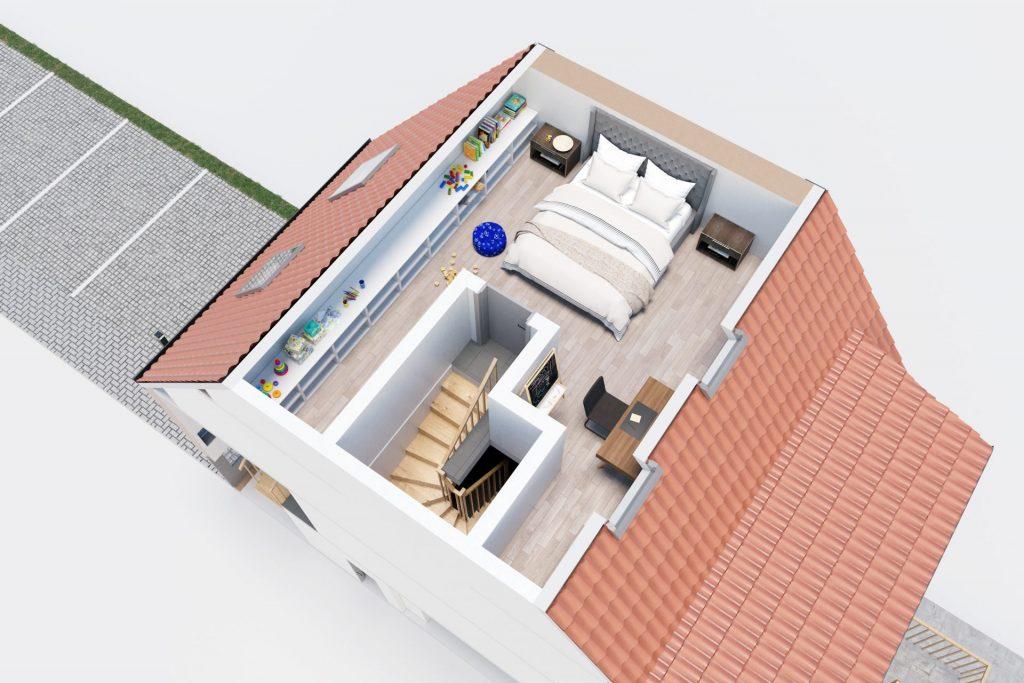 3D Visualisierung Jena - 3D Grundriss DG